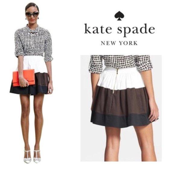 KATE SPADE NY Colorblock Coreen Pleated Skirt